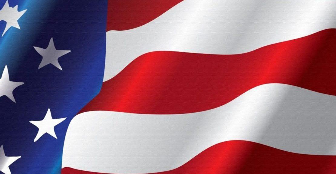 US flag header wide